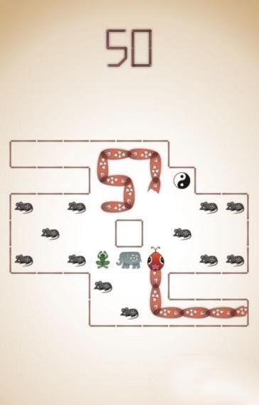 《蛇它虫》第50关图文攻略