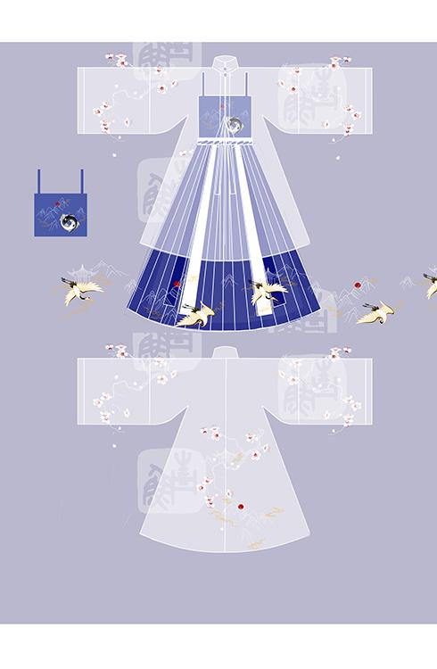 问道手游合作华裳九州:跨界秀出道教元素华服[多图]图片4