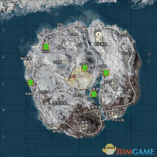 《绝地求生:刺激战场》雪地圣诞树在哪