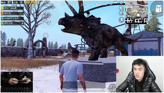 刺激战场:吃鸡变观光游戏?触手花花雪地一日游带你看恐龙!