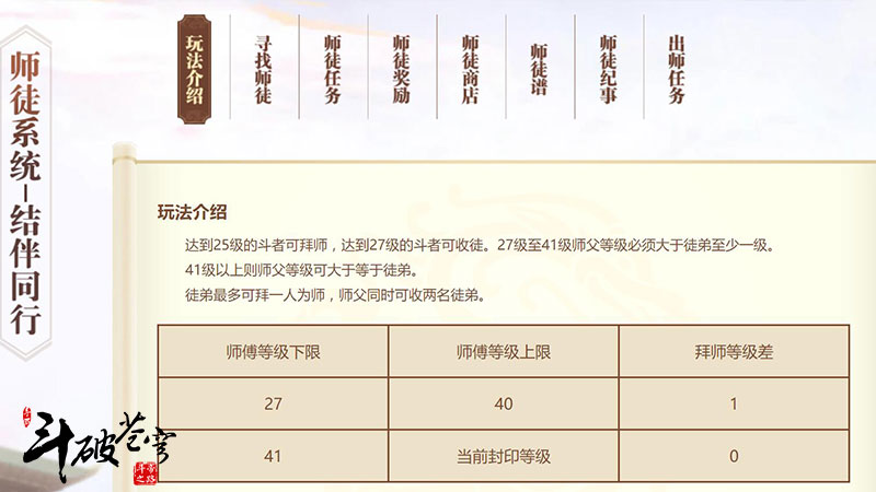 """斗破苍穹手游年终新版发布:""""良师益友""""师徒系统暖心上线[视频][多图]图片2"""