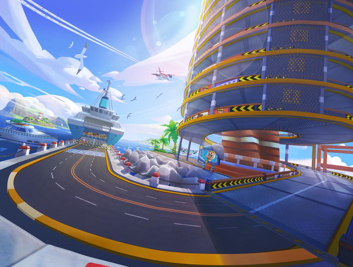 《跑跑卡丁车官方竞速版》赛道美术制作揭秘 画质全面升级,经典内核的次世代革新