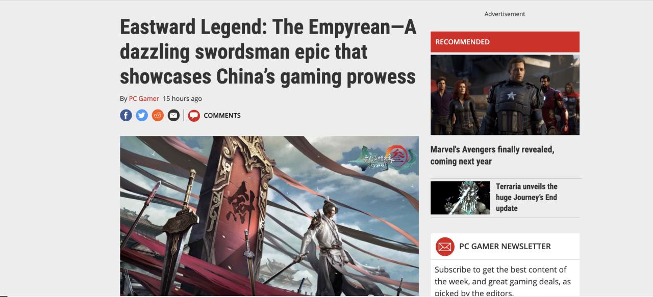 《剑网3:指尖江湖》亮相E3 外媒夸赞:东方武侠让玩家流连忘返图片1