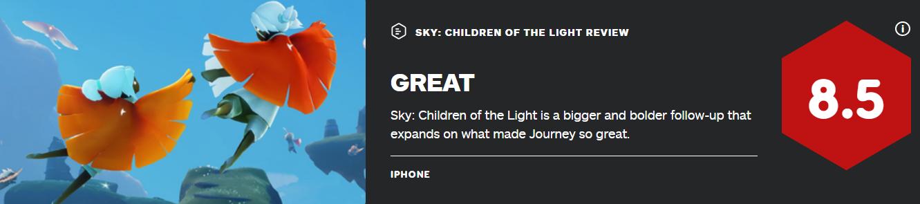 大胆的开拓之作 陈星汉《Sky光遇》获IGN8.5分高评
