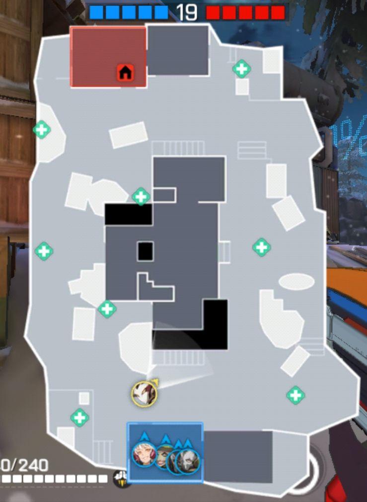 《王牌战士》安全屋-血包位置及OB视角概览