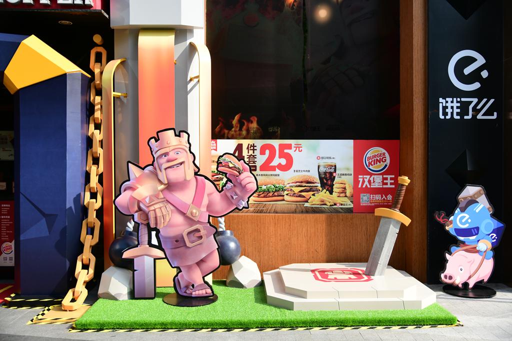 在《部落冲突》大本营吃汉堡是种怎样的体验?这几家汉堡王快闪店可以告诉你答案