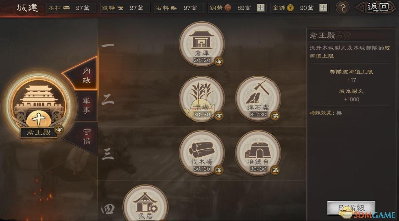 《三国志战略版》城建内政技巧一览