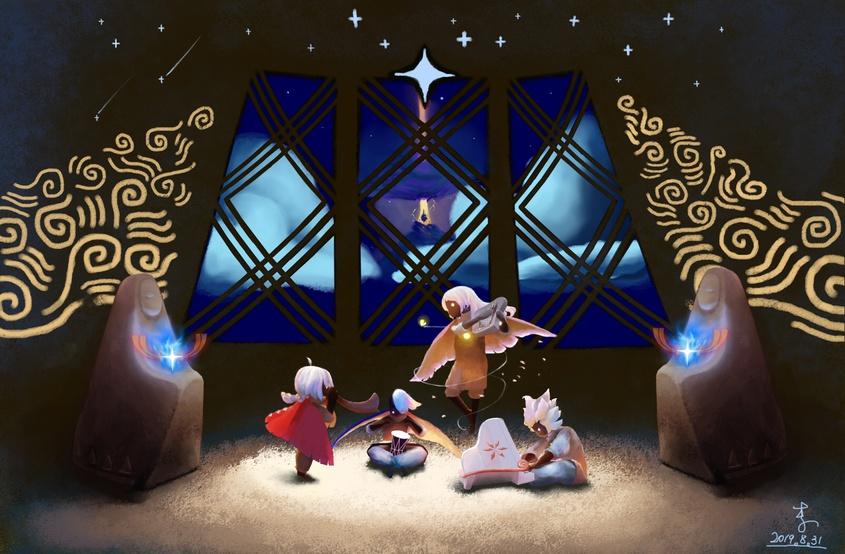 在星辰灿烂中归来,《光·遇》博物馆精彩同人作品分享
