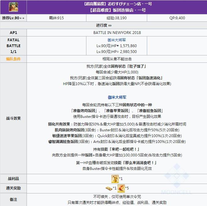 《FGO》2019年闪闪祭高难本饭团连锁店一号攻略