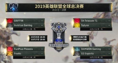英雄联盟s9八强赛赛程直播地址介绍