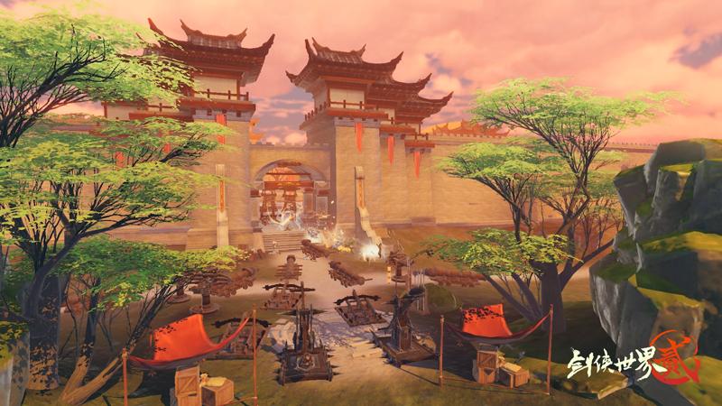 烽火幽州!《劍俠世界2》手游城戰資料片定檔10.31