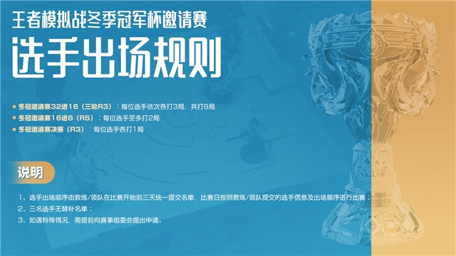 《王者荣耀》模拟战冬季冠军杯分组及赛程公布