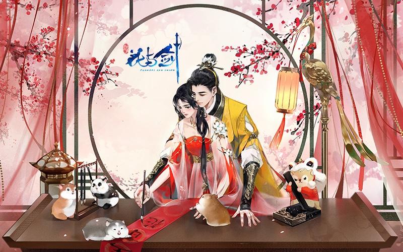 """带你去看一场最美的盛世烟火 """"花与剑""""春节烟花庆典开幕"""