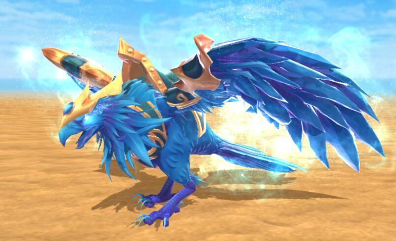 《创造与魔法》苍蓝之翼坐骑获取途径及骑乘效果展示