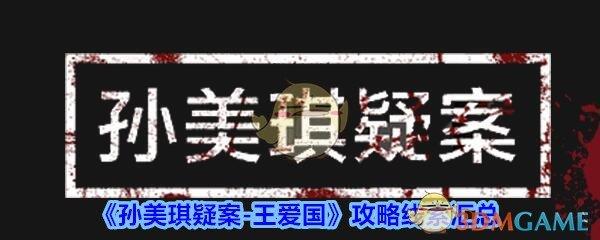 《孙美琪疑案-王爱国》攻略线索汇总