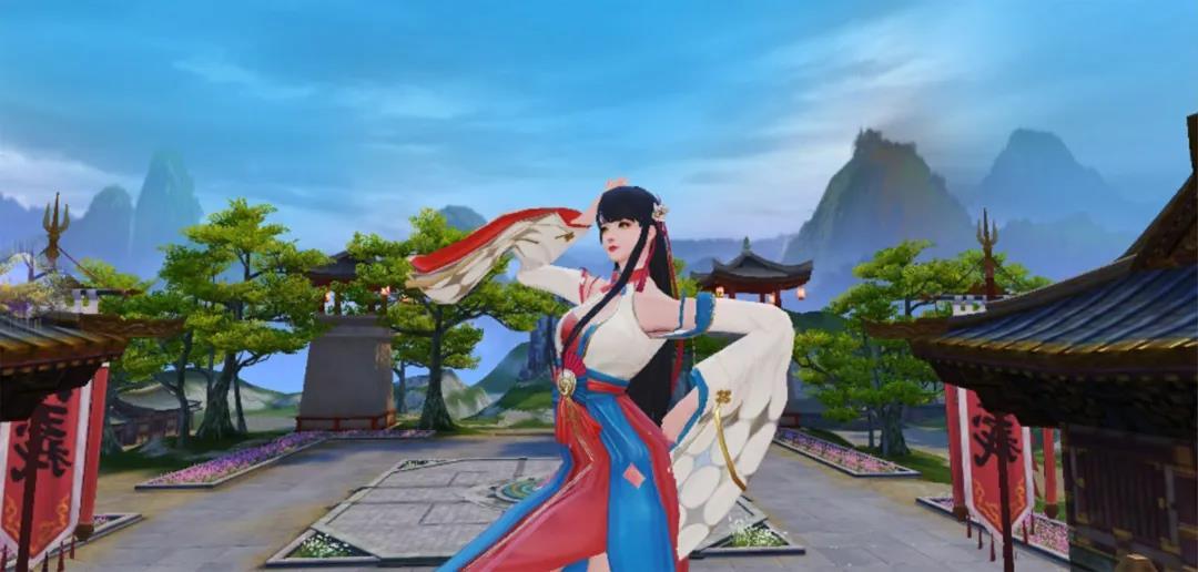 红蓝的长裙,银色的头发,《天下》手游牵着你看最新买家秀!