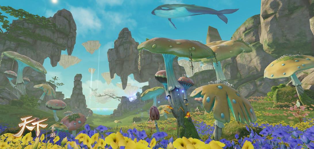 预告!《天下》手机游戏渲染风格迭代,向着更美的大荒进发!
