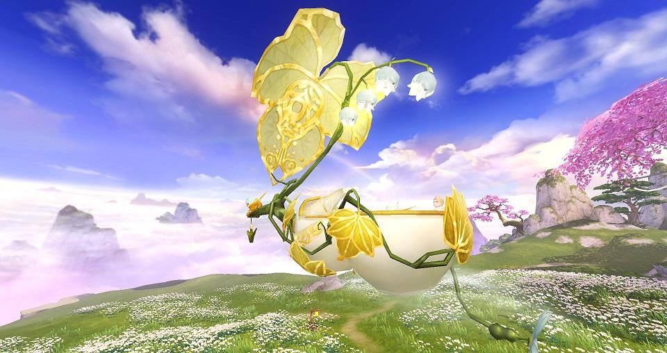 风和日丽,青云直上,着云裳乘飞骑在《天下》手机游戏遨游山海!