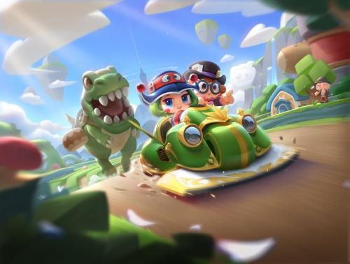如梦似幻!跑跑手机游戏首辆双栖传说赛车即将登场