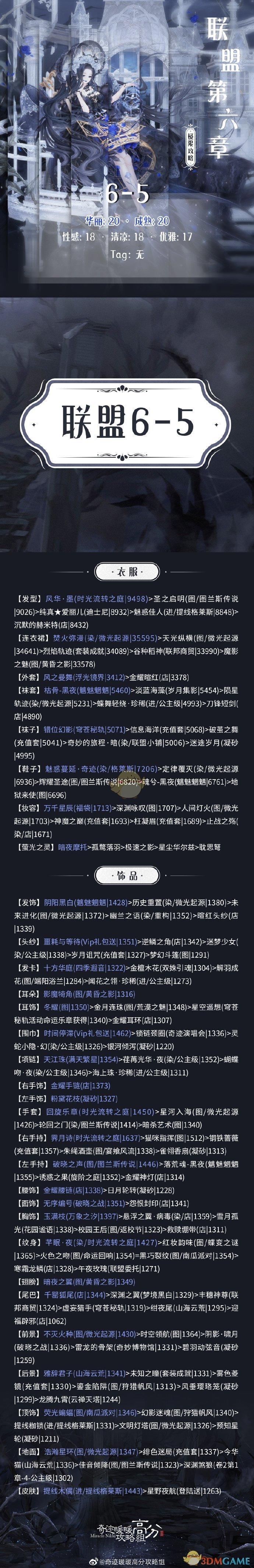 《奇迹暖暖》联盟6-5通关攻略介绍