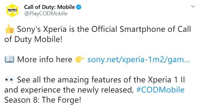 索尼Xperia成《使命召唤手游》官方合作手机品牌