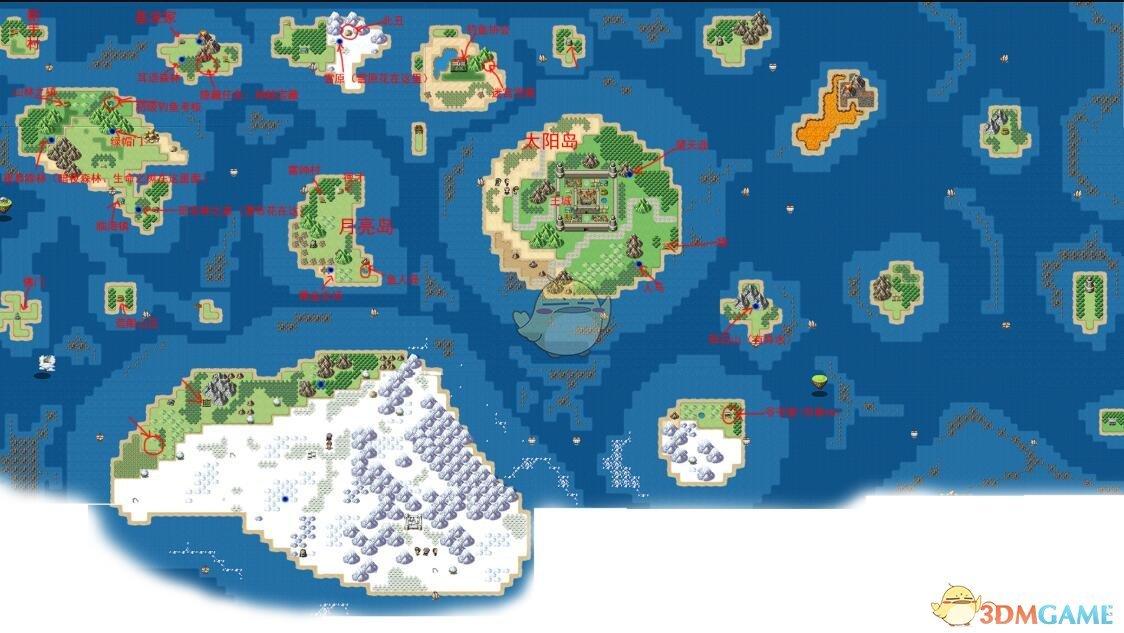 《大千世界》手游地图区域分享