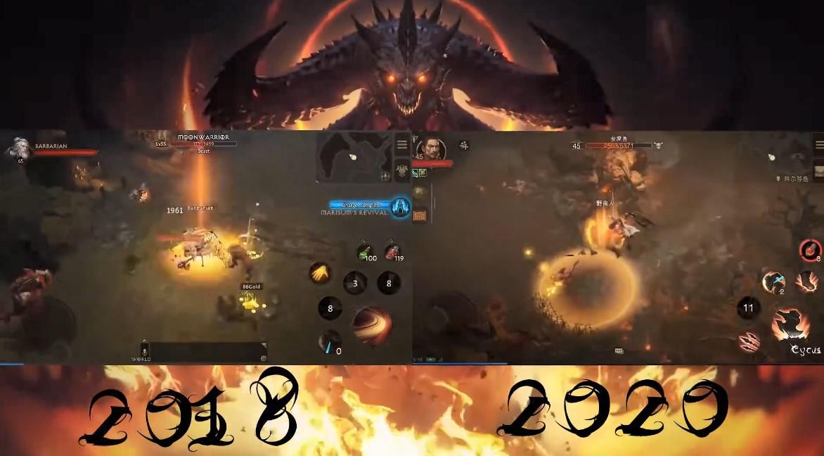 变化很大 《暗黑破坏神:不朽》2018 vs 2020预告、建模对比