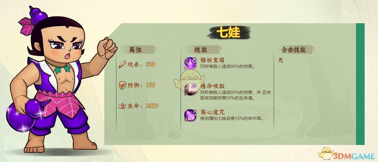 《葫芦兄弟:七子降妖》七娃获得方法介绍