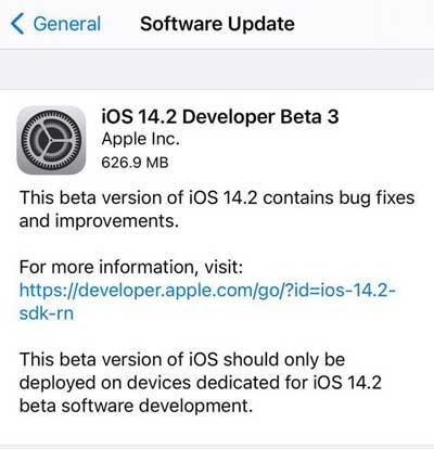 iOS14.2Beta3描述文件下载