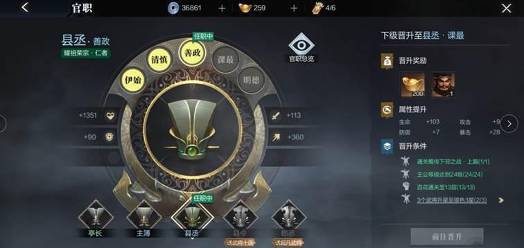 《真·三国无双 霸》官职系统介绍