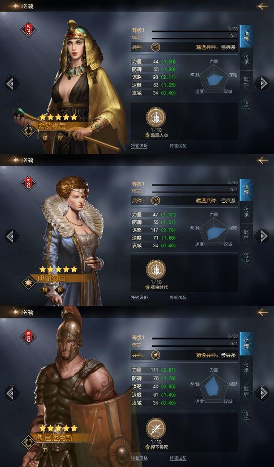 《征服与霸业》新手阵容推荐