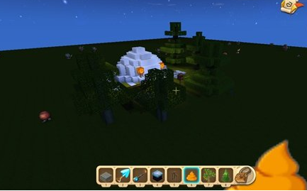《迷你世界》雪屋建造教程
