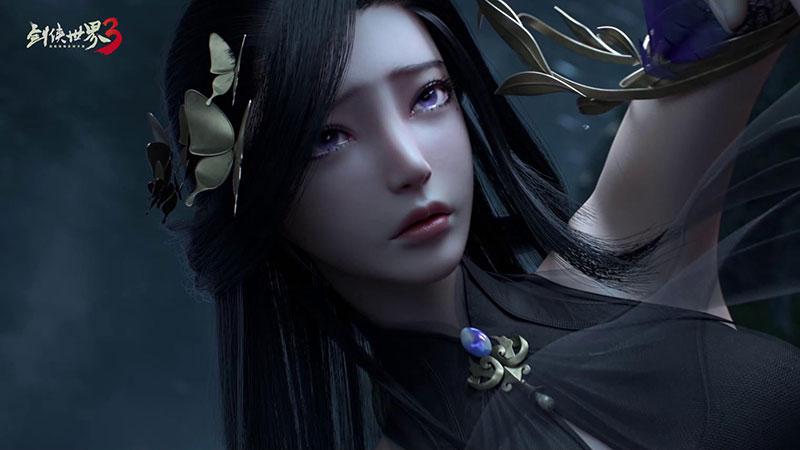 紫衣倩影《剑侠世界3》神秘少女款款而来