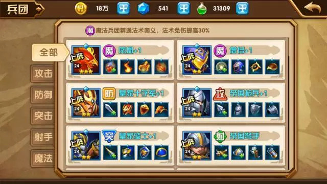 《魔法门之英雄无敌:战争纪元》兵团系统介绍