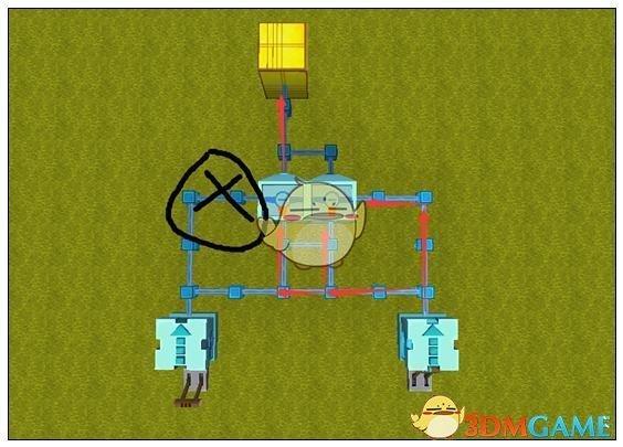 《迷你世界》旋转大炮是这样叫,但是做不到完全360度旋转,这个装置改变了大炮的发射方向,让大炮放飞自己。具体要怎么做来看看是怎么制作的吧。 1、首先叠一个6格高的柱子,在最上面的一个放上一个转轴方块;  2、转轴方块后面放一个开关;  3、转轴方块前面叠一个十字形的方块;注意这里的方块要使用非自然生成的哦,否自转轴方块无法带动旋转;  4、十字形边上四个方块都放上一个推拉臂,并用扳手改变一下形态;  5、在四个机械臂中间放一个电石块;  6、然后打开开关,让整个装置旋转起来;  7、在离旋转装置大概十格远