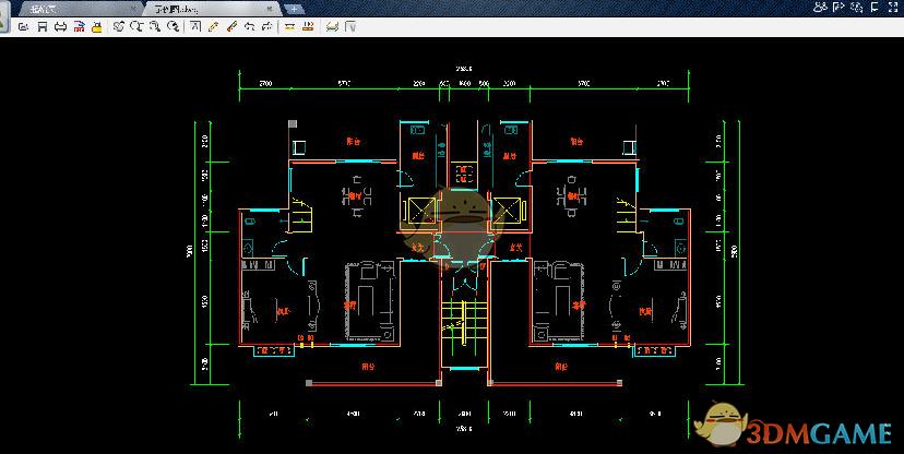 CAD迷你看图导入图纸_CAD迷你看图快速空间设计图纸1平方米图片