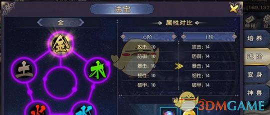 《神域苍穹》五行法宝系统介绍