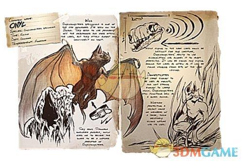 《方舟:生存进化》爪蝠图鉴