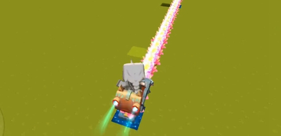 《迷你世界》荷灯轨道制作方法