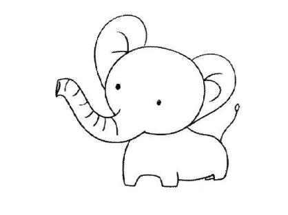 《QQ》画图红包大象简笔画