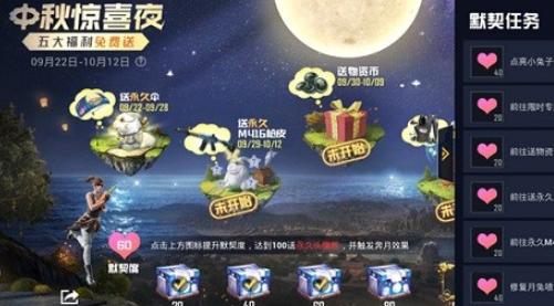 《和平精英》中秋惊喜夜活动玩法奖励一览