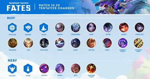《云顶之弈》10.20全新版本更新内容一览